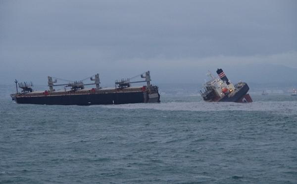 Un carguero con bandera panameña se partió en Japón, la tripulación está a salvo