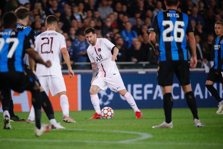 Messi debuta como titular en el PSG con 1-1 en Brujas en Champions