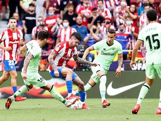 El Atlético es líder pese a empatar, Falcao regresa a la Liga con gol