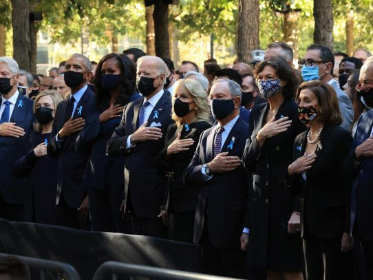 Nueva York recuerda los atentados del 11S 20 años después con un solemne acto