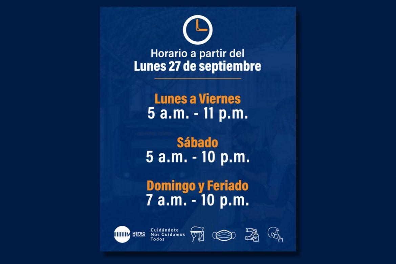 ANUNCIO IMPORTANTE DEL METRO: lunes 27 se retomará horario regular