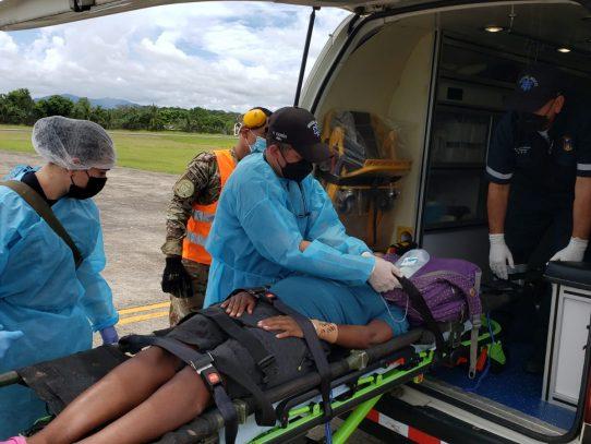 Dos migrantes fueron evacuadas para atención médica