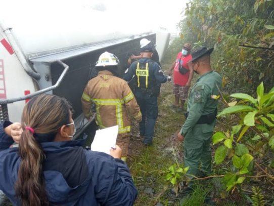 Entidades atendieron derrame de combustible
