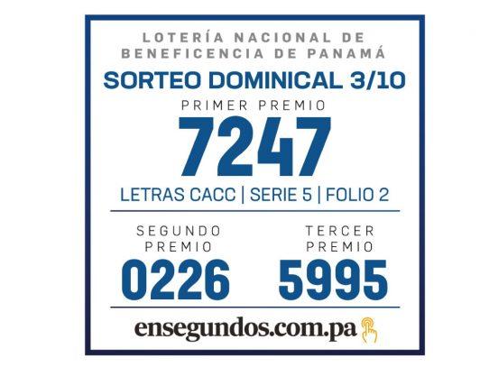 Resultados del sorteo de la LNB de hoy, domingo 3 de octubre de 2021
