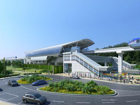 Inicia construcción de primera estación de la Línea 3 del Metro, en Ciudad del Futuro