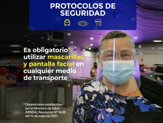 Si visitas Panamá y en Metro vas a viajar, recuerda usar mascarilla y pantalla facial