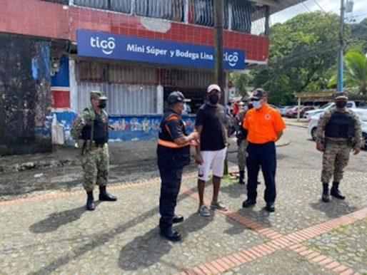 Sinaproc y la Fuerza de Tarea Conjunta realizan acciones de protección en Portobelo