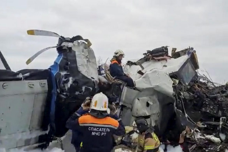 16 muertos en un accidente de avión en la región rusa de Tatarstán