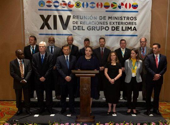 Grupo de Lima insta a Rusia y China a retirar apoyo a Maduro