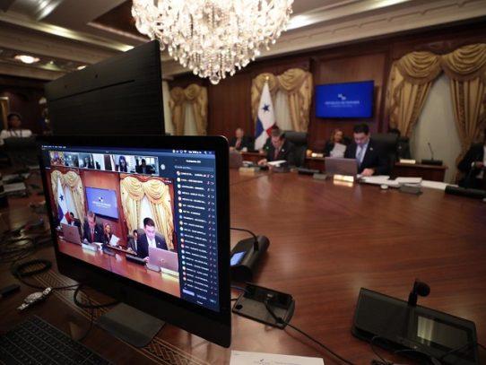 Panamá celebra consejo de gobierno de forma virtual