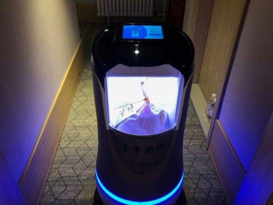 China utiliza robots y cámaras para hacer respetar el confinamiento