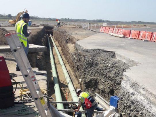 Sistema de conducción de combustible del Aeropuerto de Tocumen registra 89% de avance