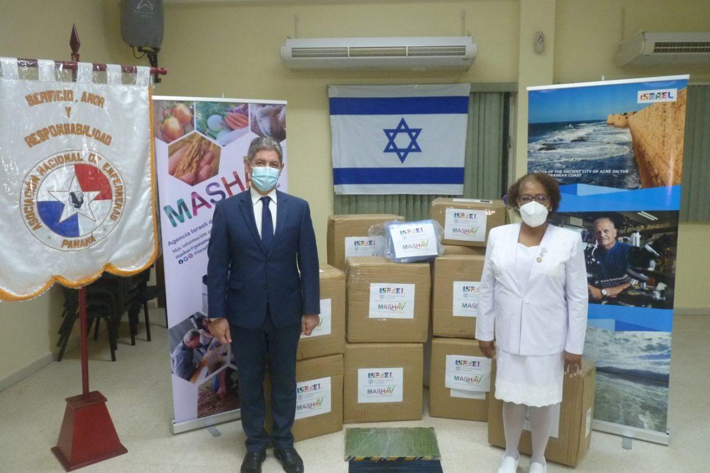 Embajada de Israel dona insumos médicos a enfermeras de Panamá