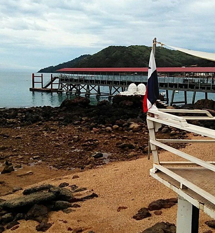 Muelle de Isla Taboga afectado por las condiciones meteorológicas