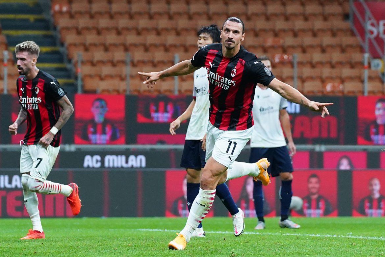 El eterno Ibrahimovic coloca tercero al Milan con un doblete