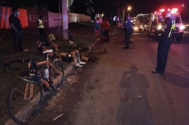 Grupo de ciclistas es arrollado en Tocumen