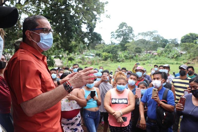Desmantelan invasión de terrenos en Burunga, cerca a la Cuenca del Canal de Panamá