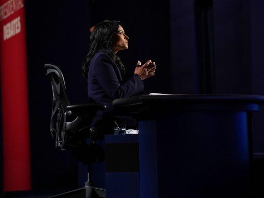 Kristen Welker, la moderadora del último debate, logró mantener el orden