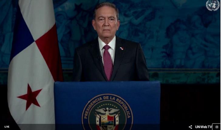 Presidente Cortizo pide en la ONU edificar una sociedad más solidaria