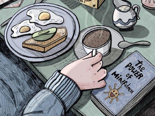 Shhh. Es hora del desayuno