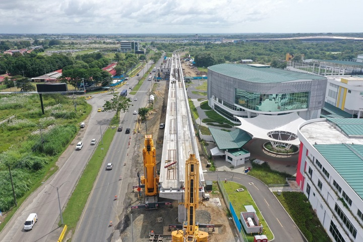 Continúan trabajos del Ramal de la Línea 2 del Metro sobre la salida del Corredor Sur