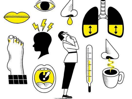 Identifica los síntomas que distinguen la gripe del COVID-19