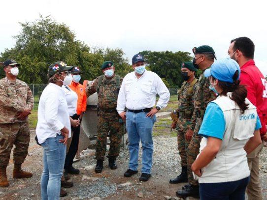 Inicia reubicación de migrantes en nuevo campamento de San Vicente en Darién