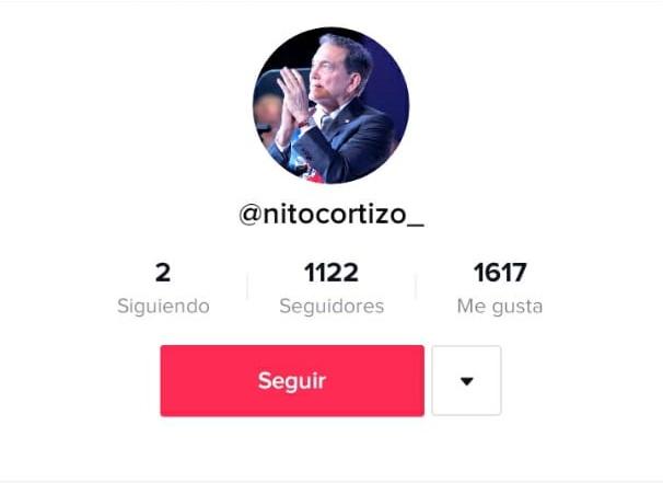 Presidente Laurentino Cortizo abre cuenta en la red social Tik Tok