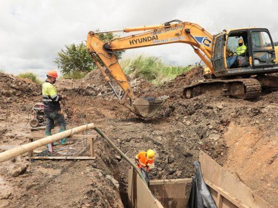 Saneamiento de Panamá repara daños por obstrucción en Pacora