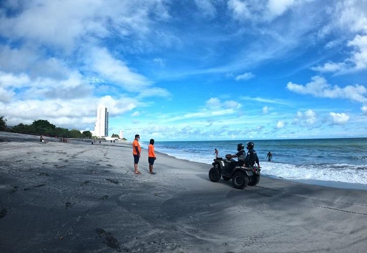 Al menos 2, 500 personas visitaron las playas este fin de semana