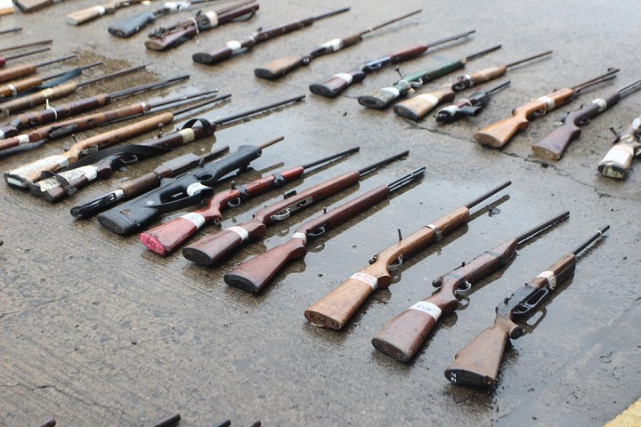 Más de mil armas decomisadas en lo que va de este año