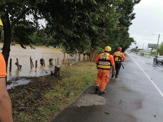 Anegaciones, caída de árboles y deslizamiento de tierras en diferentes puntos
