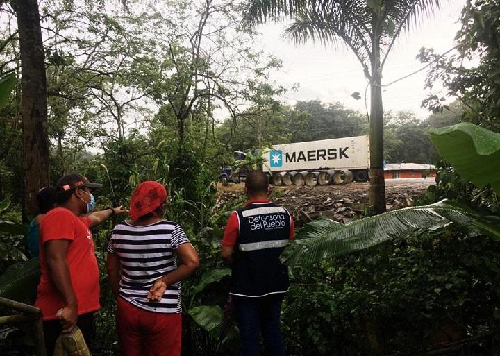 Defensoría del Pueblo brinda atención en Gatuncillo por alerta ambiental
