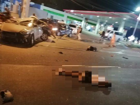 Dos muertos por accidente de tránsito en la Avenida Domingo Díaz