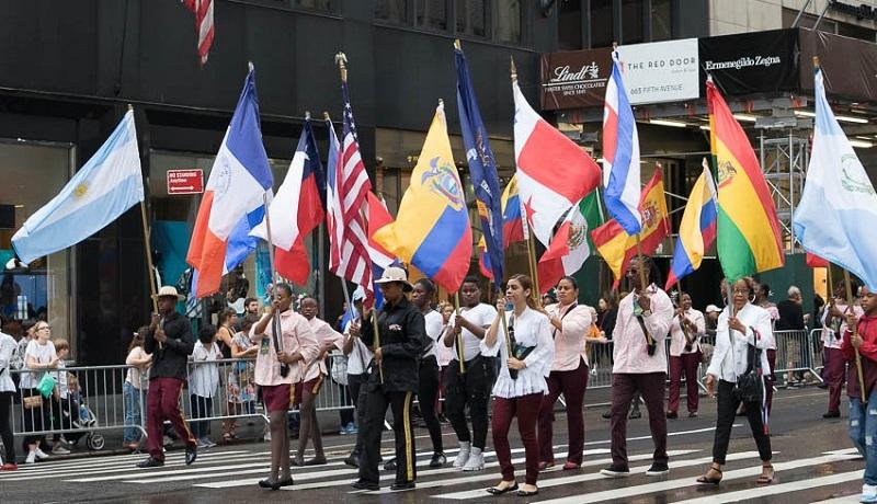 Panameños se destacan en el Desfila de la Hispanidad en Nueva York