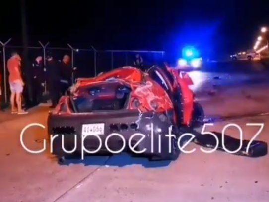 Hombre muere al salir disparado desde su auto en la Avenida La Amistad