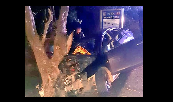 Tres heridos por accidente en Los Santos