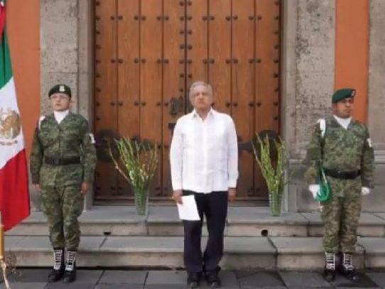 López Obrador honra a casi 39.000 muertos por covid-19 en México