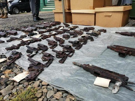 Destruyen 1,228 armas de fuego de diversos calibres en Chiriquí