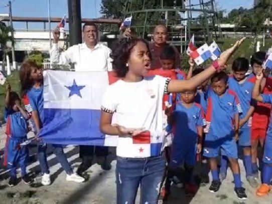 Niños de Arraiján recuerdan a los mártires del 9 de enero