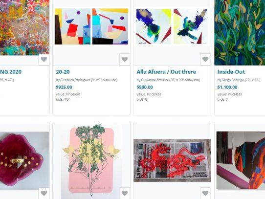 Subastan 9 obras de arte en internet para llevar comida e insumos al personal de salud panameño