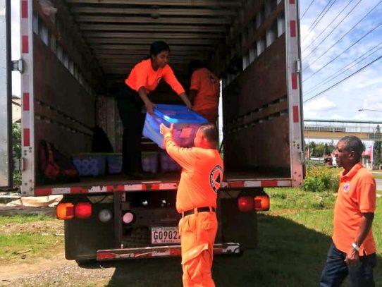 Continúa la ayuda humanitaria a los afectados por las lluvias en Panamá Este