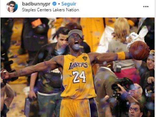 Bad Bunny y su emotiva canción para rendir tributo a Kobe Bryant
