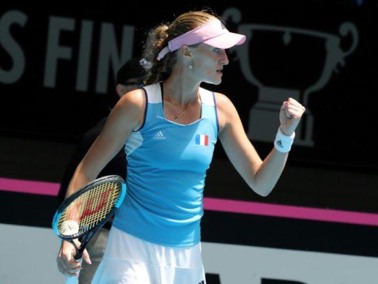 Mladenovic lidera el triunfo de Francia en la Fed Cup ante Australia
