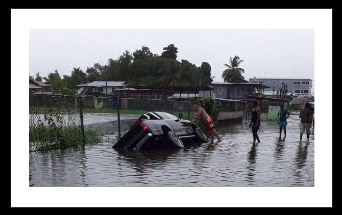 Emergencia: Lluvias intensas  paralizaron Bocas del Toro el Día de Navidad