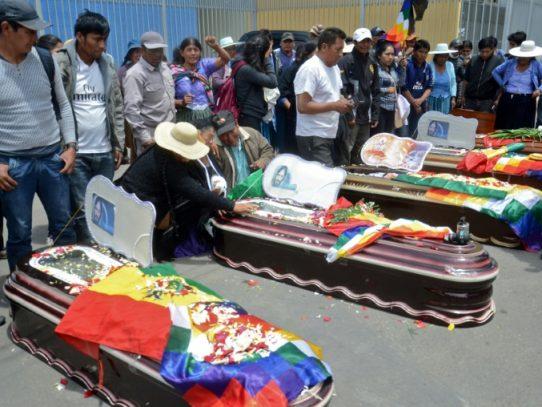 Líderes bolivianos piden fin de la violencia tras nuevas muertes en protestas