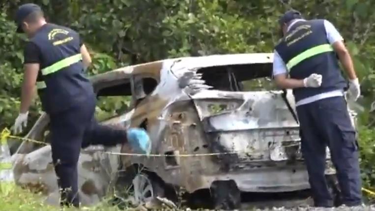 Encuentran a dos personas calcinadas dentro de un carro en Capira