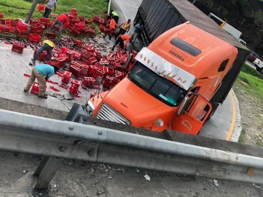ENA cierra salida del Corredor Norte por accidente