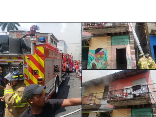 Bombero falleció en medio de incendio registrado en Calle A de El Chorrillo