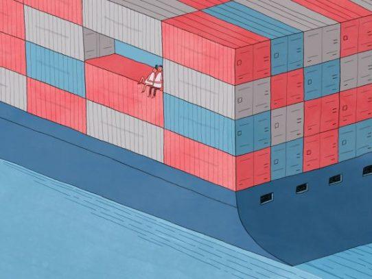 Las relaciones se mueven rápido en un buque de carga lento